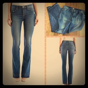 Low-Rise Boot Cut Jeans